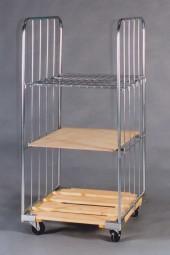 Rollbehälter 640x810x1450 Holz K 4SR 3WF